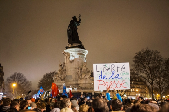 Place de la République.  January 7, 2015.